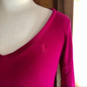 Cherry red vneck by Ralph Lauren Sport